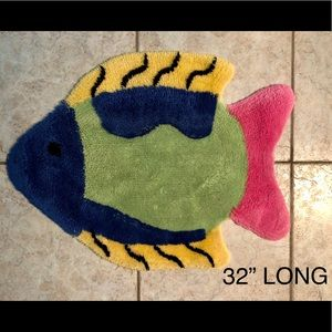 Fish shaped bath rug